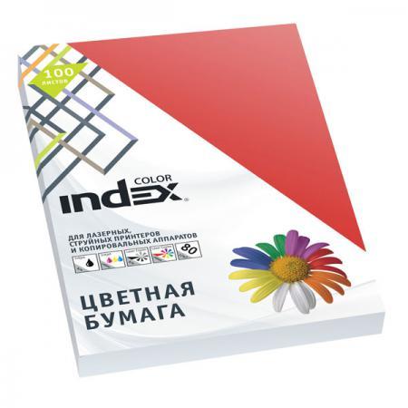 Цветная бумага Index Color A4 100 листов IC28/100 бумага maestro color pale a4 80g m2 100л blue mb30 102474