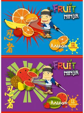 Альбом для рисования Action! Fruit Ninja A4 12 листов FN-AA-12 в ассортименте FN-AA-12 альбом для рисования action бумажки a4 12 листов bmk aa 12 в ассортименте