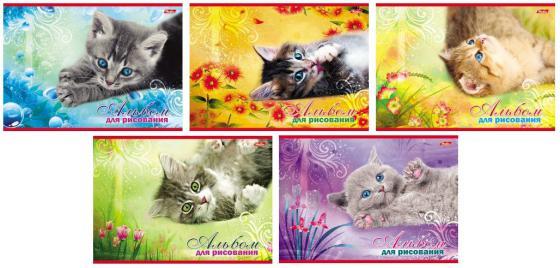 Альбом для рисования Хатбер Котята A4 20 листов 004023 20А4В/К цена