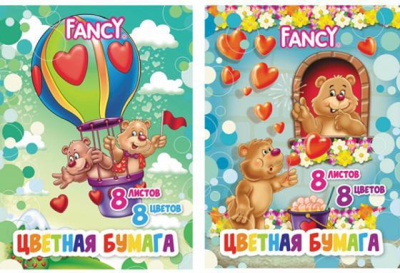 Цветная бумага Action! FANCY A4 8 листов F-8/8