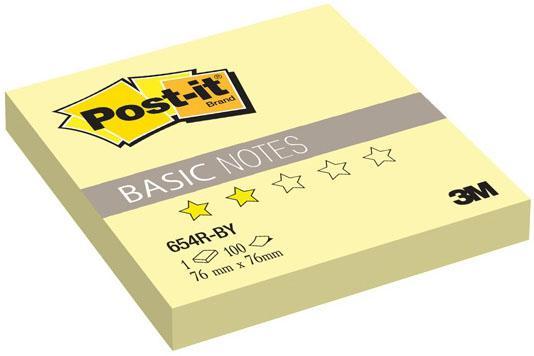 Бумага с липким слоем 3M 100 листов 76x76 мм желтый 654R-BY-RU* цены