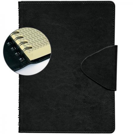 Ежедневник недатированный Index Boss A5 искусственная кожа IDN112/A5/BK ежедневник gy gs a5 leather ring binder for agenda organizer and notebook gl so rbf07a5
