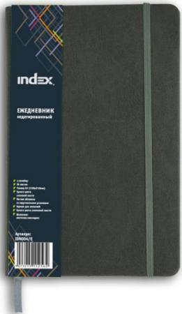 Ежедневник недатированный Index IDN004/E A5+ бумвинил ежедневник недатированный 152 листа бумвинил серый еб17515204