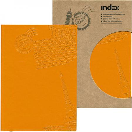 Ежедневник Paris, недатированный, интегральная обложка, А6, кожзам, оранжевый IDN111/A6/OR цена и фото