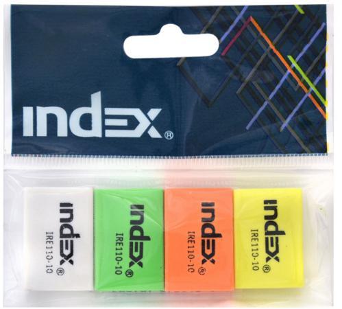 цены  Набор ластиков Index 4 шт прямоугольный