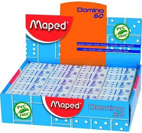 Ластик Maped DOMINO 1 шт прямоугольный maped ластик kneadable серый maped