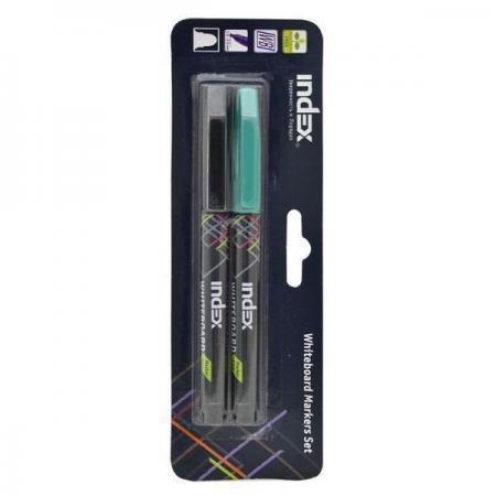 Набор маркеров для доски Index IMW550/2 4 мм 2 шт зеленый черный  IMW550/2