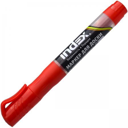 Маркер для доски Index IMWR100/RD 3 мм красный сменные чернила IMWR100/RD авточехлы autoprofi matrix формованный велюр 11 предметов чёрный красный размер м mtx 1105 bk rd m
