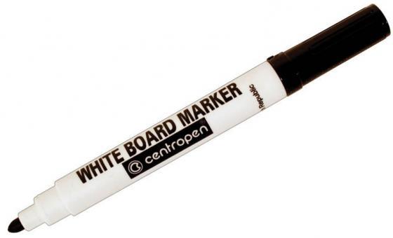 Маркер для доски Centropen 8559/1Ч 2.5 мм черный 8559/1Ч маркер флуоресцентный centropen 8722 1о оранжевый 8722 1о