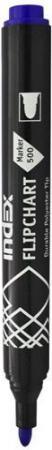 Маркер для флипчарта Index IMF500/BU 1 мм синий IMF500/BU светильник ночник светодиодный nn 604 ls bu 05вт синий