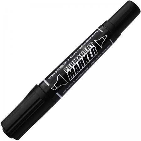 Маркер перманентный Index IMP100/BK 5 мм черный двусторонний маркер перманентный двухсторонний черный пулевидный 0 5 1мм