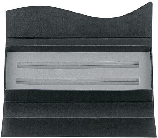 Футляр картонный Wave для двух ручек, матово-черный ET156/2