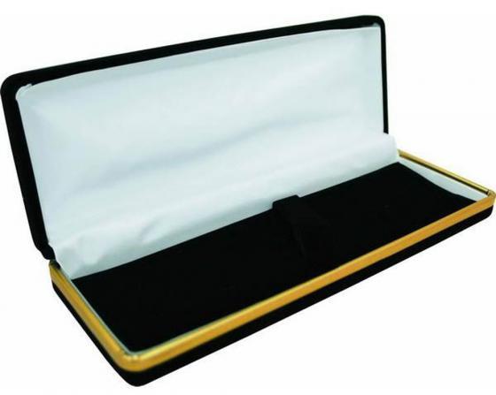 Футляр для 1-2 ручек, подарочный, бархатный, прямоугольный, 175х66х28 мм, черный BX-300