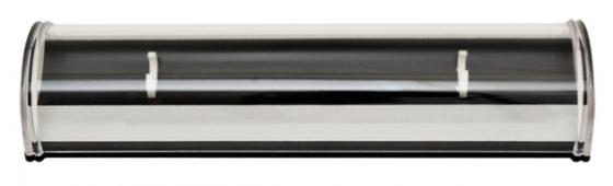 Футляр для одной ручки, с полукруглой прозрачной крышкой, 163х44х25 мм, пластиковый BX-130 abs 1 75 3d 395m