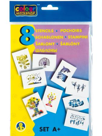 Набор трафаретов Centropen ПРАЗДНИК 8 шт разноцветный 9996/A