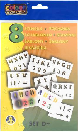 Набор трафаретов Centropen БУКВЫ/ЦИФРЫ разноцветный 9996/D набор мебели буквы цифры салатовый