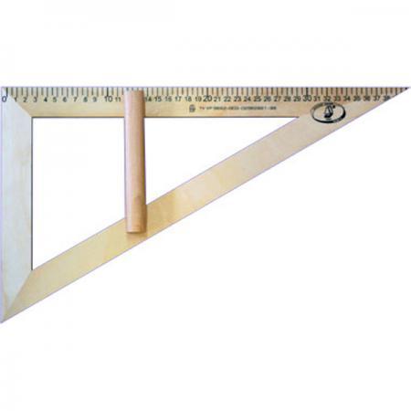 Купить Треугольник Красная Звезда МОЖГА 40 см дерево С 364/ШК, бежевый