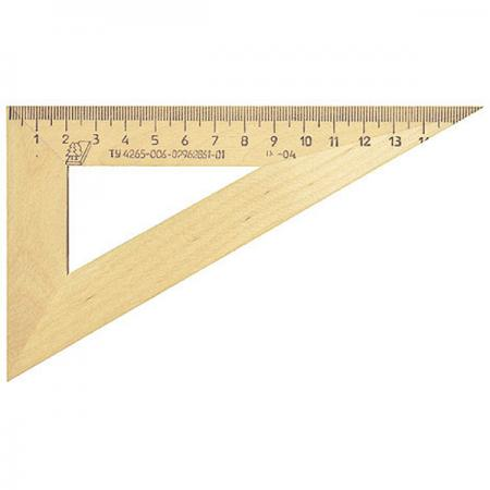 Купить Треугольник Красная Звезда С 139/ШК 16 см дерево, бежевый