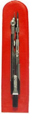 Циркуль чертежный ТЕХНИКА (ЦЧ-02-01), стальной, L-125мм, для старших классов и студентов, чехол ЦЧ-60-10 набор чертежный техника 2 предмета нч 2 ш 11 для студентов пластм футляр с европодвесом