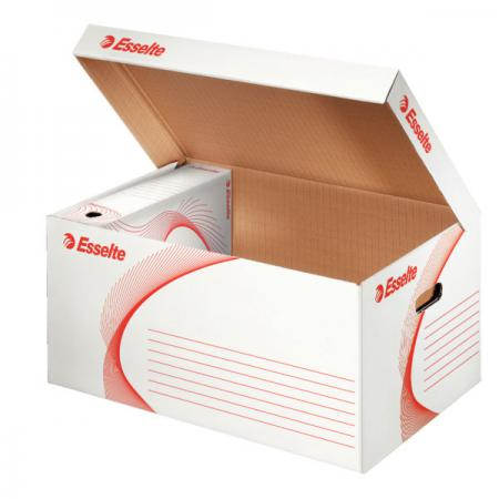 лучшая цена Короб архивный с откидной крышкой, 365x255x550 мм, белый 128900