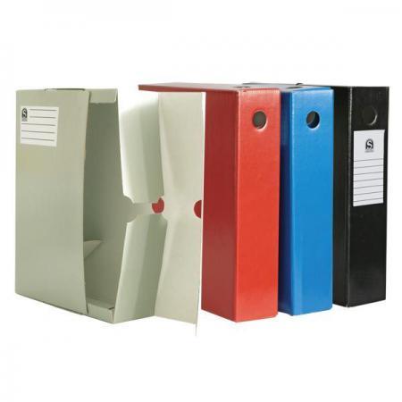 купить Лоток-коробка архивный, лакированный микрогофрокартон, 470 г/кв.м, 250x75x315 мм, чёрный SAB715/BK по цене 75 рублей
