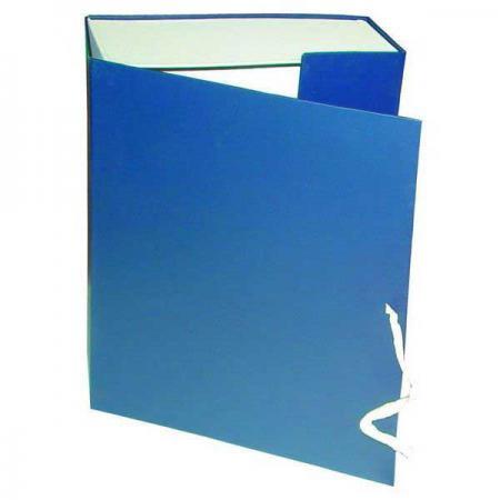 Короб архивный на завязках, бумвинил, 320х242х60 мм, синий КАрхБ/В-60С