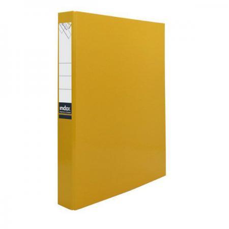 Папка-файл ламинированная на 2 кольцах, желтая IND 2 D30/ЖЕЛ папка 2 кольца желтая 180 листов 221795