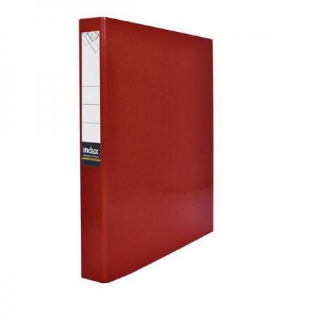 Папка-файл ламинированная на 2 кольцах, красная IND 2 D30/КР папка файл ламинированная на 4 кольцах красная ind 4 d30 кр