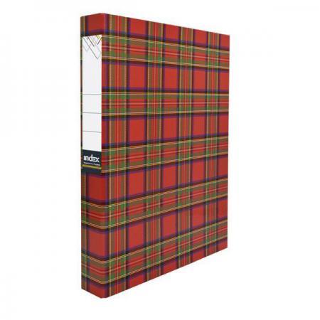 Папка-файл ламинированная на 2 кольцах, шотландка IND 2 D30/ШОТ папка файл ламинированная на 4 кольцах красная ind 4 d30 кр