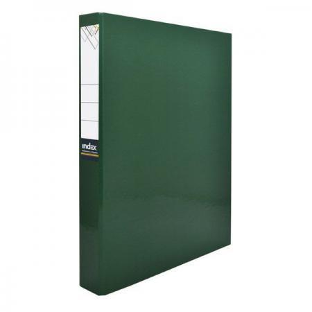 Папка-файл ламинированная на 4 кольцах, зеленая