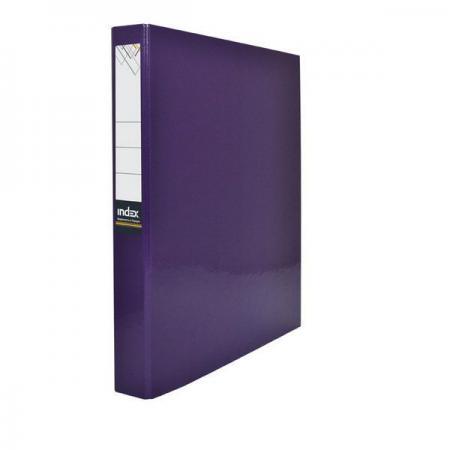Папка-файл ламинированная на 4 кольцах, фиолетовая папка файл ламинированная на 4 кольцах красная ind 4 d30 кр
