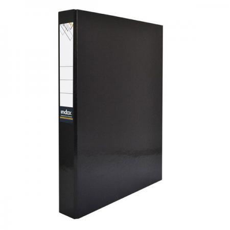 Папка-файл ламинированная на 4 кольцах, черная IND 4 D30/ЧЕР папка файл ламинированная на 4 кольцах красная ind 4 d30 кр
