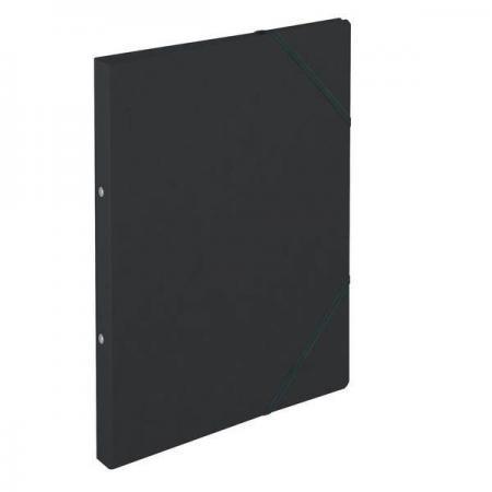 Папка с кольцевым механизмом на резинках EASYORGA, картон, ф.А4, корешок 25 мм, черная 11254398