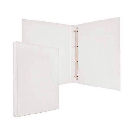 Папка-файл на 4 кольцах, белая, PVC, 25 мм, диаметр 16мм 08-2720-2/БЕЛ