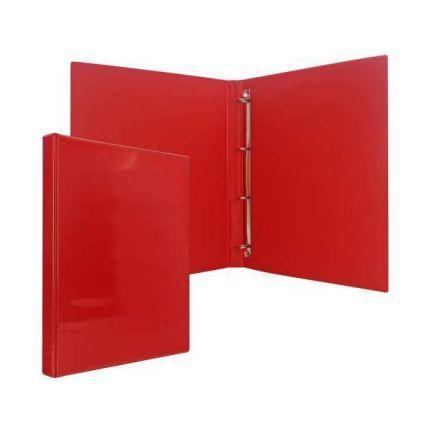 Папка-файл на 4 кольцах, красная, PVC, 25 мм, диаметр 16мм 08-2720-2/КР