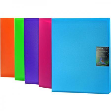 Папка с 40 файлами COLOURPLAY, ф.A4, 0,8мм, прозрачная, ассорти ICPD40/ASS цена и фото