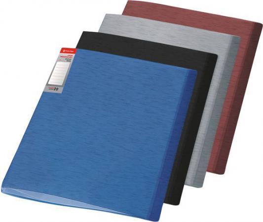 Папка с файлами SIMPLE, ф.А4, 20 файлов, серый, материал PP, плотность 450 мкр 0410-0055-12 папка с файлами omega 20 файлов цвет красныйй материал полипропилен плотность 450 мкр