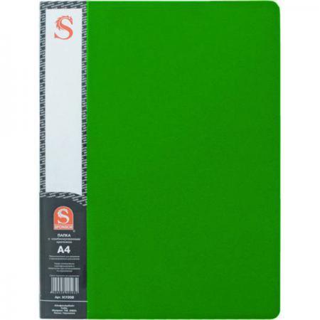 Папка с 40 файлами, форзац, ф.А4, зеленая SDB40/GN