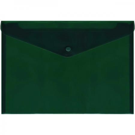 Папка-конверт с кнопкой, полупрозрачный, зеленый, A4 IPF352/GN папка конверт с кнопкой полупрозрачный красный a4 ipf352 rd ipf352 rd