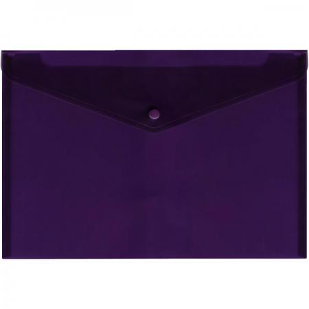 Папка-конверт с кнопкой, полупрозрачный, фиолетовый, A4 IPF352/VL папка конверт с кнопкой полупрозрачный красный a4 ipf352 rd ipf352 rd