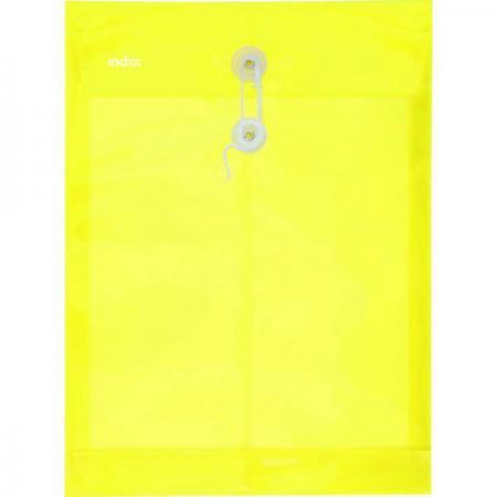 Папка-конверт на завязках, желтая, A4 IPF364/YL брелок для животных crazy paws бишон