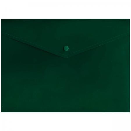 Папка-конверт с кнопкой, зеленый, A4 IPF371/GN