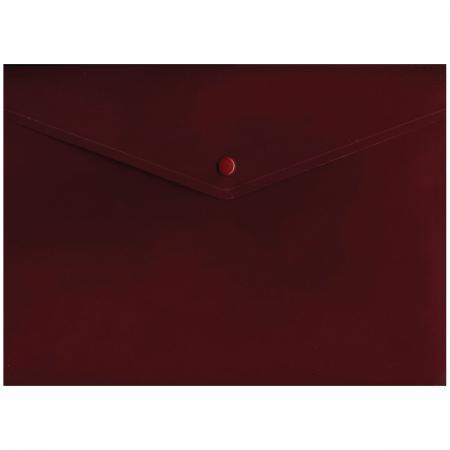 Папка-конверт с кнопкой, красный, A4 IPF371/RD папка конверт с кнопкой полупрозрачный красный a4 ipf352 rd ipf352 rd