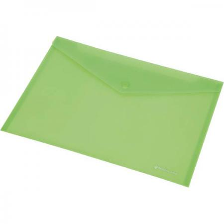 Папка-конверт на кнопке FOCUS, ф.A4, розовый, материал PP, 120 л., плотность 160 мкр 0410-0030-13