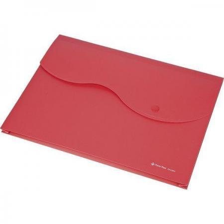 Папка на кнопке и липучке на 200 листов, ф. A4, цвет красный, материал полипропилен 0410-0035-05 папка на кнопке comix цвет фиолетовый