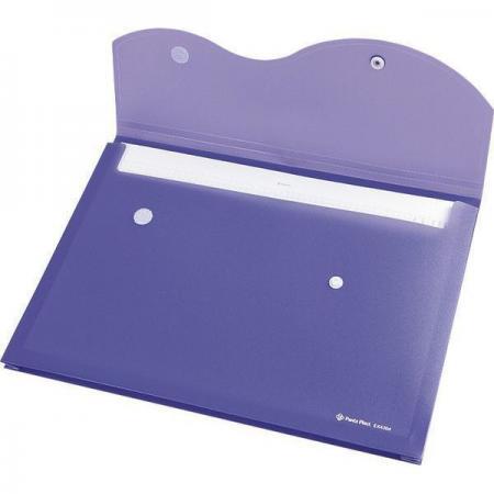 Папка на кнопке и липучке на 200 листов, ф. A4, цвет фиолетовый, материал полипропилен 0410-0035-15 папка на кнопке comix цвет фиолетовый