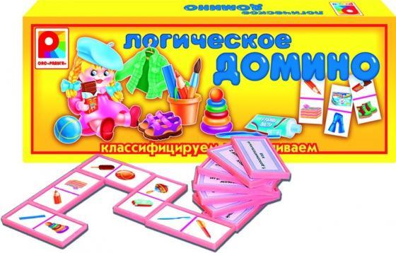 Настольная игра развивающая Радуга Логическое домино Предметы 1 С-557 настольная игра домино стеллар хорошие знакомые 9