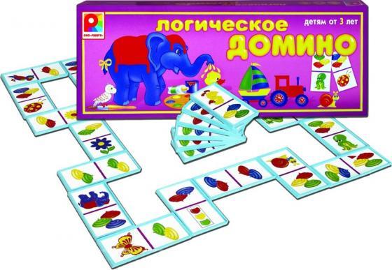 Настольная игра развивающая Радуга Логическое домино Цвет С-572 настольная игра домино стеллар хорошие знакомые 9