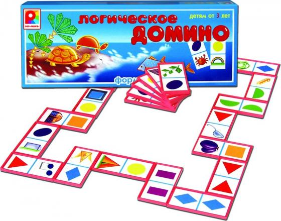 Настольная игра развивающая Радуга Логическое домино Форма С-573 настольная игра домино стеллар хорошие знакомые 9