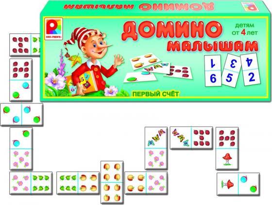 все цены на Настольная игра развивающая Радуга Домино малышам Первый счет С-865 онлайн